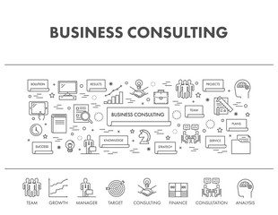 Line banner for business consulting