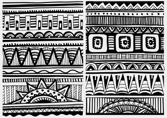 Set of African patterns