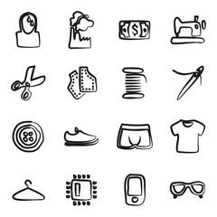 Sweatshop Factory Icons Freehand
