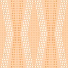 Curved vertical stripes of small circles seamless pattern