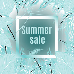 "vector image with inscription ""summer sale""."