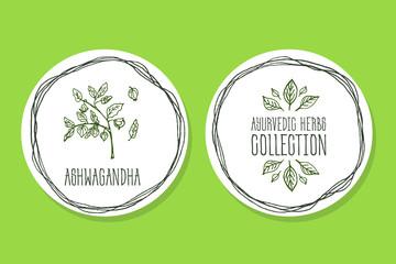 Ayurvedic Herb - Product Label with Ashwagandha