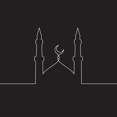 mosque line ,mosque vector ,mosque Icon. mosque Icon Vector. mosque Icon Art