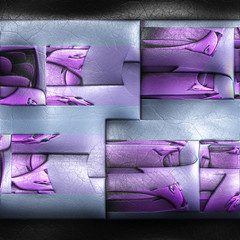Plastic fractal on leather