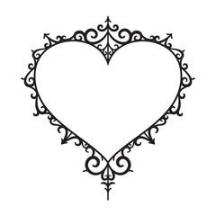 graphic vintage heart, vector