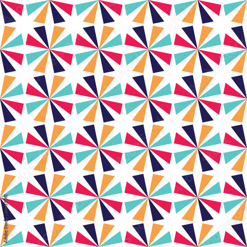 pillow texture seamless. Vector Modern Seamless Colorful Geometry Star Pattern, Color Abstract Geometric Background, Pillow Multicolored Print Texture B