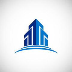 arrow up building logo