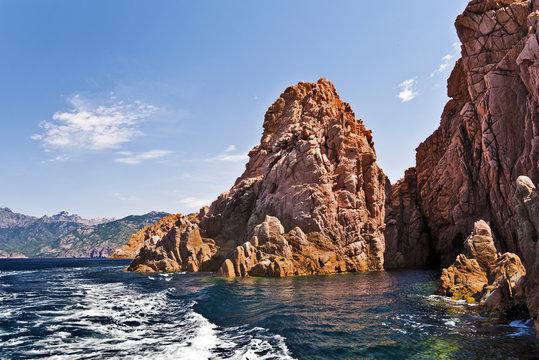 Boat tour along Calanques de Piana in Corsica