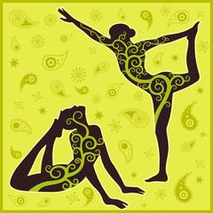 yoga green background