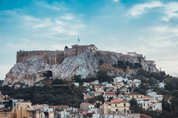 Rooftop view of Athens with the Acropolis