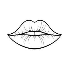 Vector Illustration of Lips