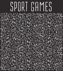 Sport hand drawn seamless logo