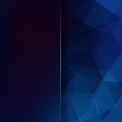 Abstract polygonal vector background. Dark blue geometric vector