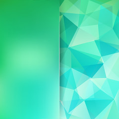 Abstract polygonal vector background. Green geometric