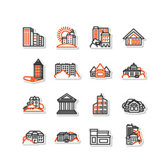 Buildings - set of icons.