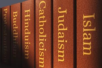Weltreligionen - Bücher Fototapete