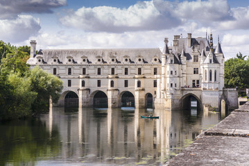 Foto auf Leinwand Schloss Chateau de Chenonceau