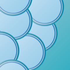 Bright beautiful circles