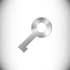 The steel icon representing key button for web or mobile devices.