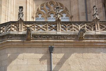 gárgolas en una Catedral gótica