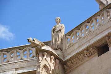 gárgola de pìedra en la Catedral de Burgos