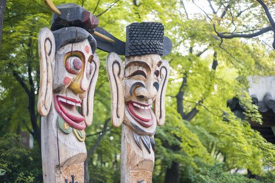SEOUL,South Korea - MAY 22: Hahoe Folk village in South Korea. M