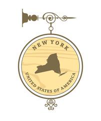Vintage label New York