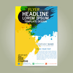 poster flyer  brochure business creativity abstract a4 paper art