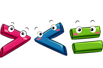 Mascot Math Symbols