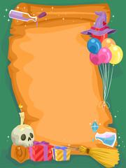 Witch Craft Birthday Scroll Invitation