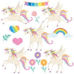 Cute unicorn vector illustration