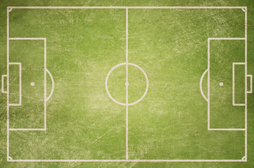 soccer field top view grunge background