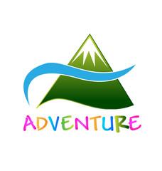 Adventure green mointain logo