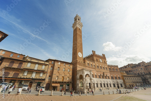 Fototapete Piazza del Campo, Siena, Tuscany, Italy.