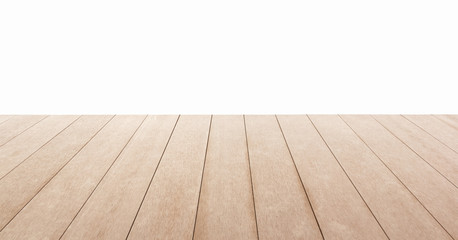 Wooden floor isolated on white background