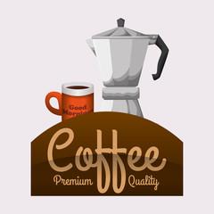 Cofffee icon. drink concept.  Flat illiustration , vector