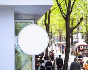 Signage Light box Round shape shop display Shopping Street