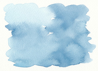 watercolor blue shading abstract background