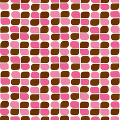 Retro clover background. Seamless pattern. Vector. レトロクローバーパターン