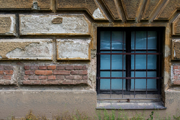 Old brick wall with a window 10