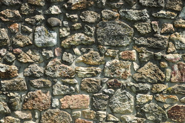 Old castles rock wall texture