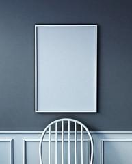 mock up poster frame. close up concept. 3d rendering
