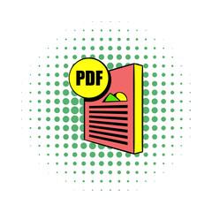 PDF file icon in comics style