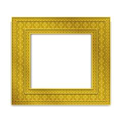 Shining golden Indian Photo frame, vector