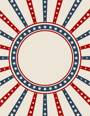 Vintage American patriotic background with blank space