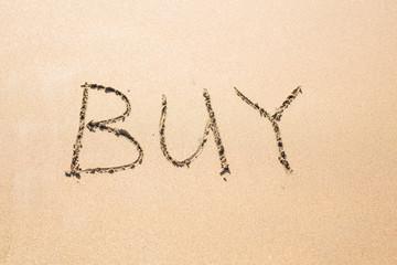 Buy written in the sand on beach
