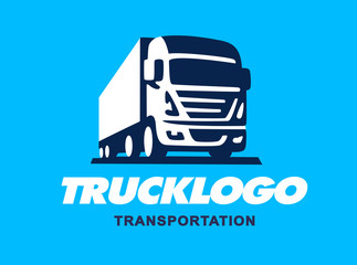 Truck illustration. Logo design
