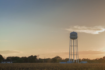 CORPUS CHRISTY, TEXAS, USA - SEPTEMBER 20, 2013:Water tower in a field on September 20, 2013 year.