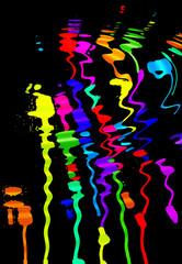 abstract colorful blots