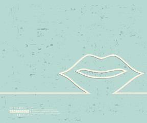 Creative vector mouth. Art illustration template background. For presentation, layout, brochure, logo, page, print, banner, poster, cover, booklet, business infographic, wallpaper, sign, flyer.